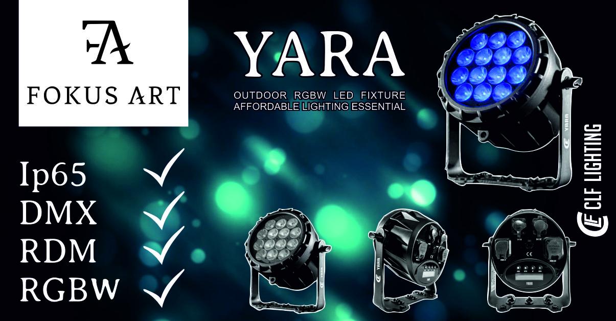 CLF Lighting YARA – Wodoszczelny PAR LED już w ofercie wypożyczalni.
