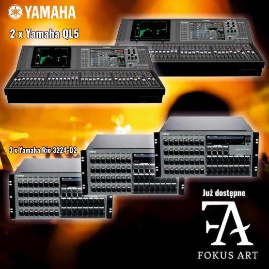 YAMAHA QL5 + YAMAHA RIO3224-D2 powiększa zestaw konsolet cyfrowych w FOKUS-ART